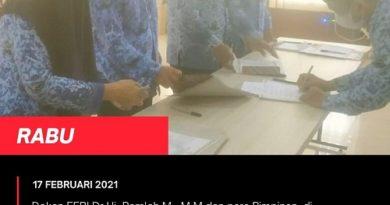 Penandatangan Pakta Integritas dan Perjanjian Kinerja (PERKIN) Tahun 2021