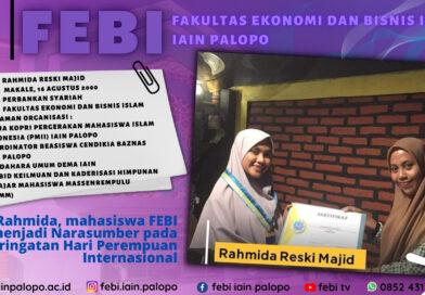 Rahmida, mahasiswa FEBI menjadi Narasumber pada peringatan Hari Perempuan Internasional
